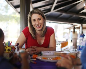 Women show physical strength in campaign ads