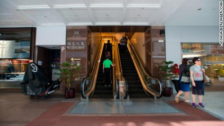 An entry to the Wu Chung home in Hong Kong's Wan Chai area.