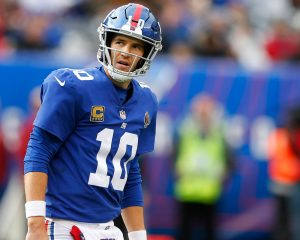 New York Giants QB Eli Manning broke Lawrence Taylor Hall of Famer
