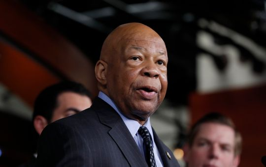 Mr. Elijah Cummings, D-Md., Speaks at a press conference at Capitol Hill in Washington, DC, May 17, 2017.