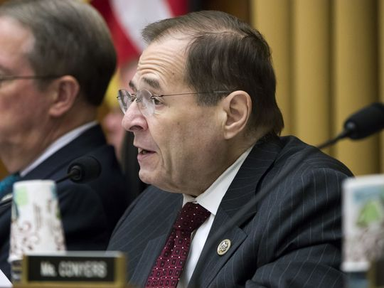 Mr. Jerrold Nadler, NY, Joined Left of Chairman of the Jury Committee, Bob Goodlatte, R-Va., Makes a statement at a hearing on arms rights at Capitol Hill in Washington, DC, 29 November 2017.