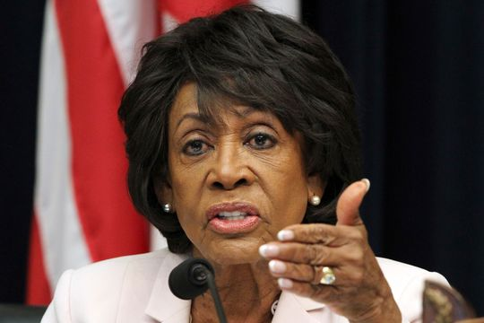 The House Commissioner for Financial Services, Maxine Waters, D-Calif., Asks a question from Housing and Urban Development Minister Ben Carson at a hearing on June 27, 2018 at Capitol Hill in Washington, D.C.