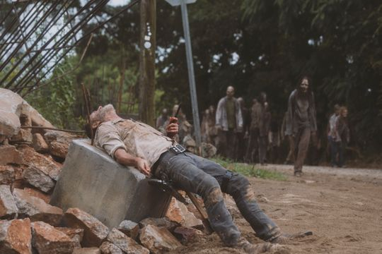 Rick Grimes (Andrew Lincoln) lost his hand after pushing to the beak after his horse threw him in