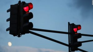 Cars and traffic signals are talking to each other