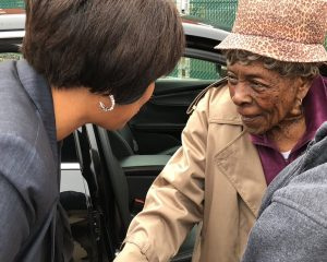 Mayor DC Muriel Bowser meets 104-year-old voters