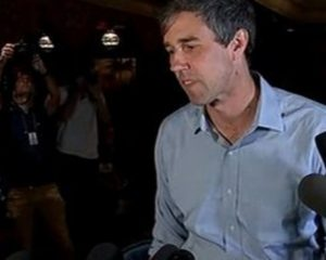 Candidates of the candidate Democratic MP Beto O'Rourke at the Senate,