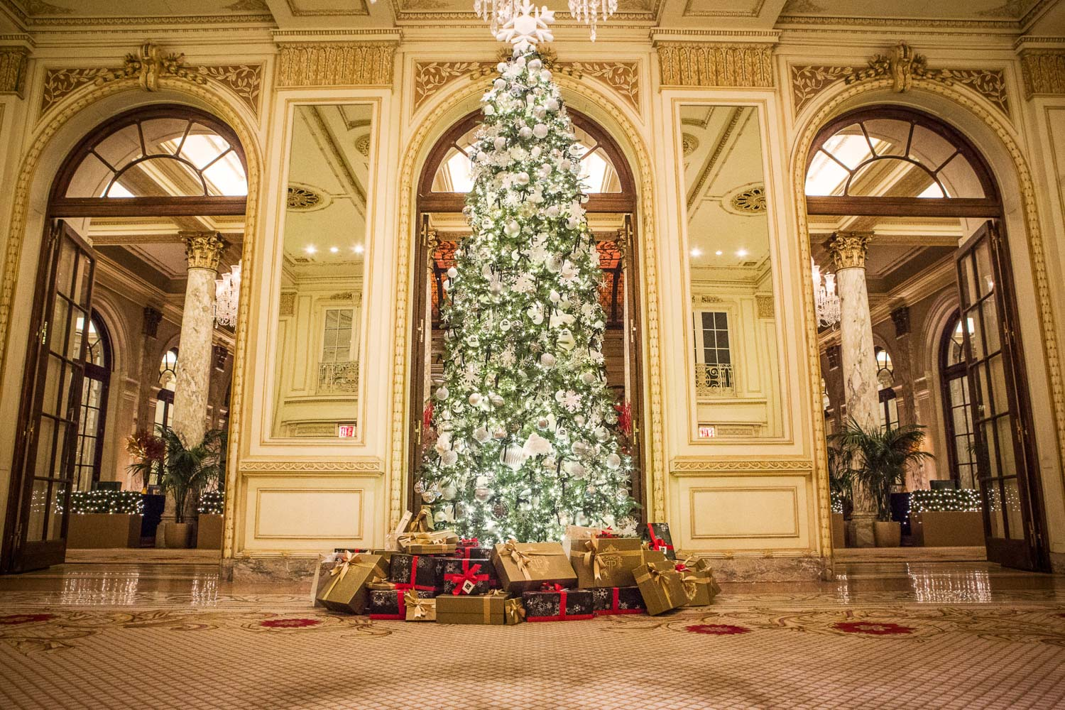 The Plaza Hotel in New York City on Christmas