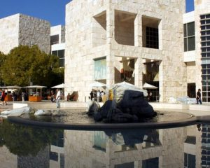 How did the architects build the Getty Museum in California
