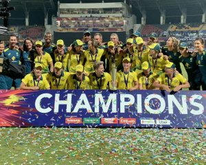Australia defeated England with 8 wickets to win the title