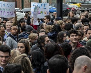 Hundreds of Google employees in Chicago go out to protest in handling complaints of sexual offenses