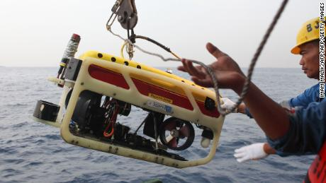A submarine remote-controlled car is ready to search for the Flight 610 cockpit voice recorder.