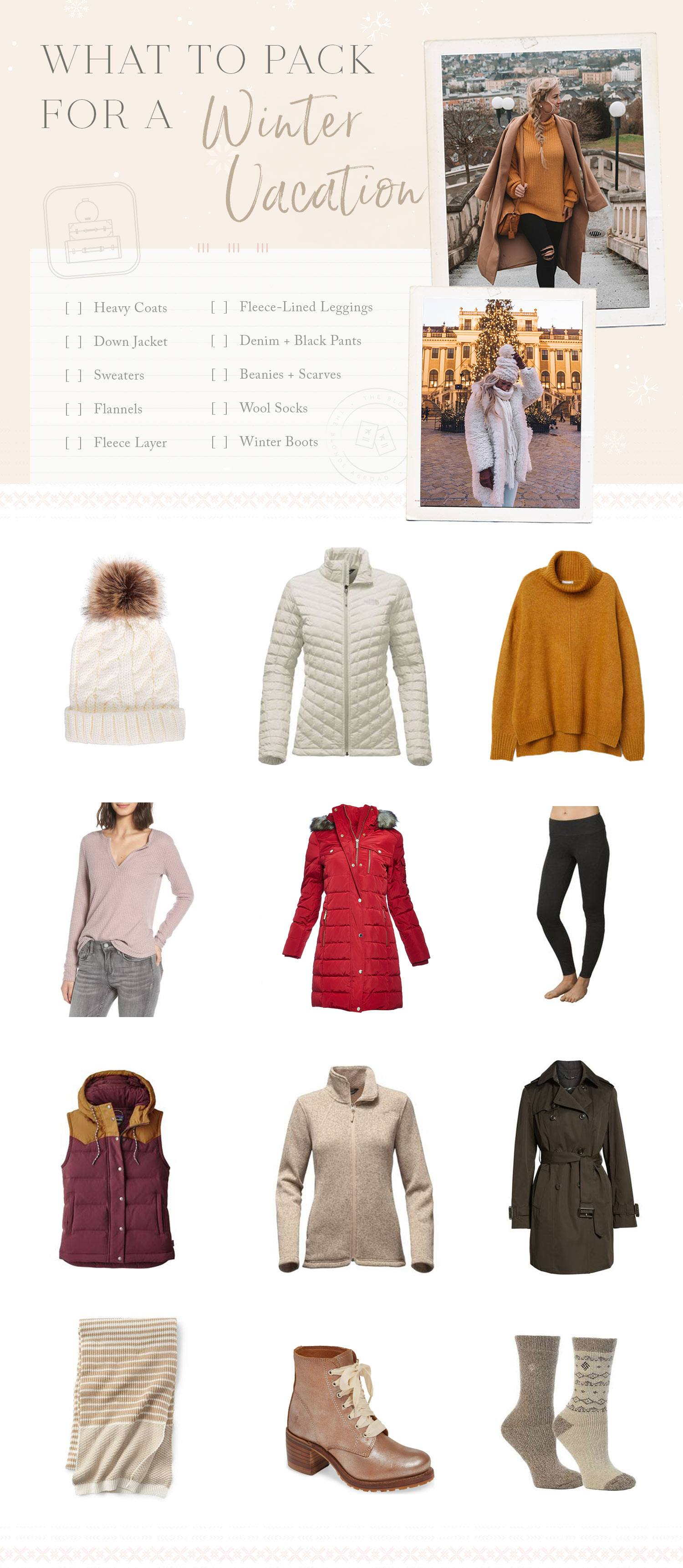 What to Pack for a Winter Holiday
