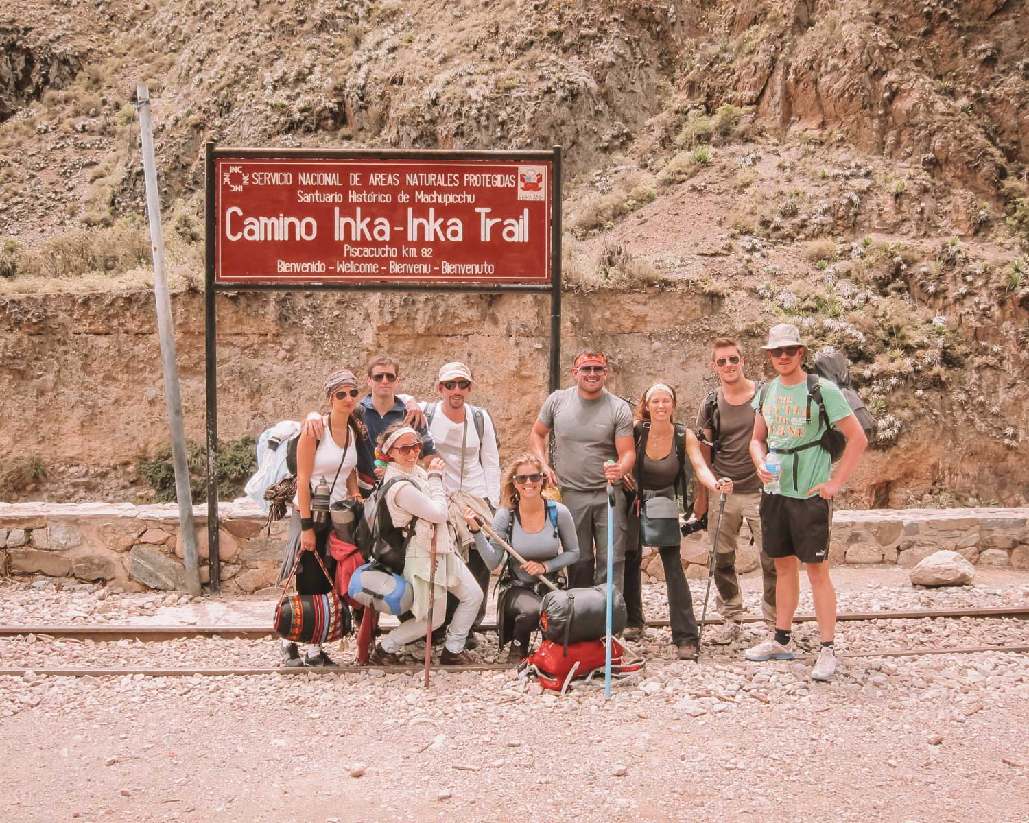 Hiking on the inca trail