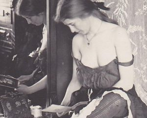 """The invisible photographs provide a delicate glance at the early """"working girls"""" of America,"""