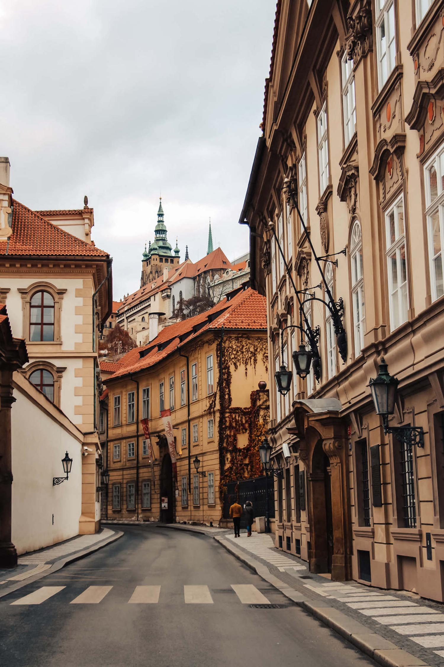 Street of the czech republic in prague