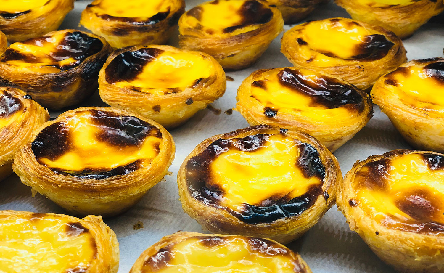 Portuguese egg with pastel egg tart
