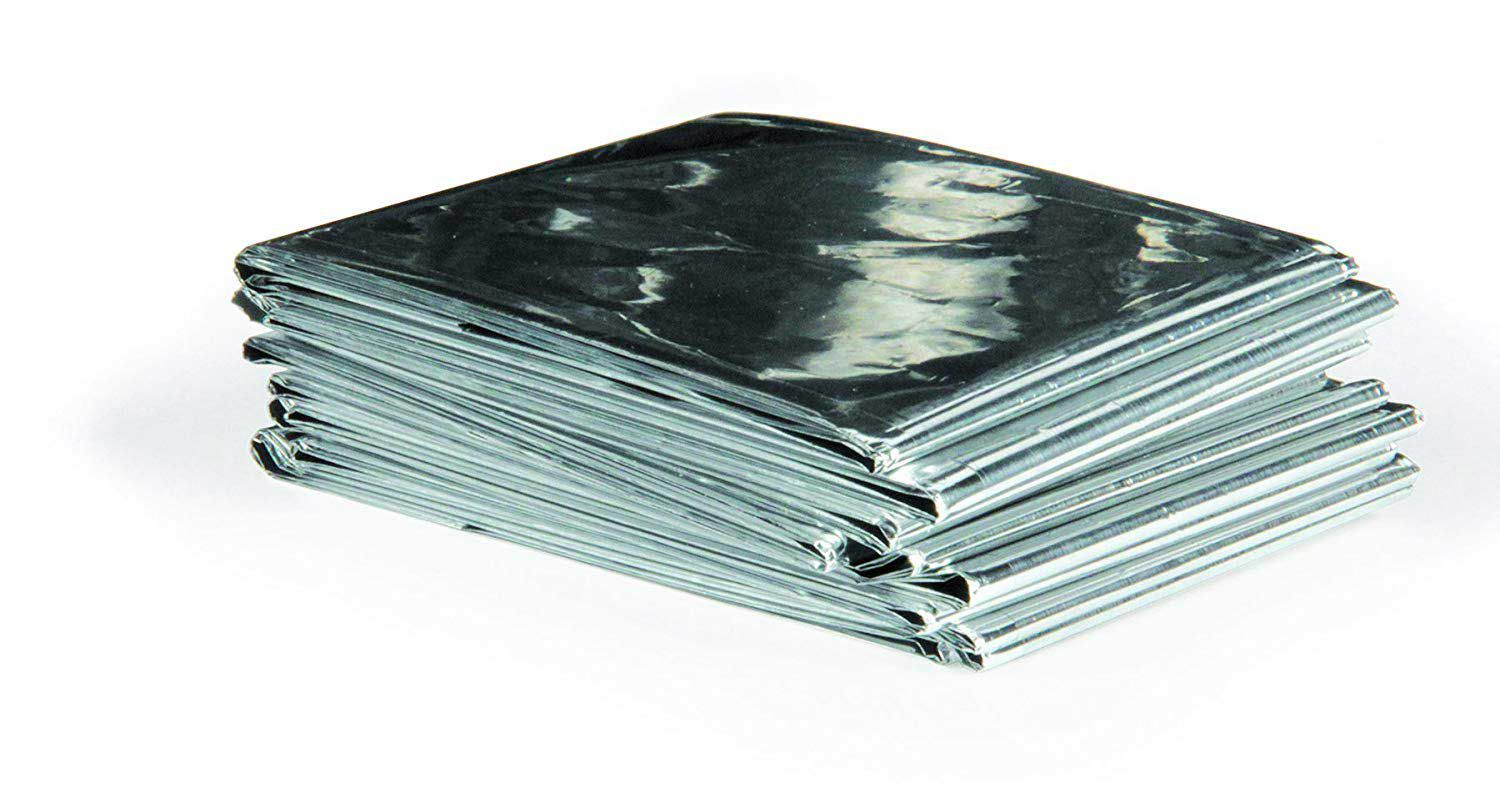 Reflective thermal blankets can retain heat inside or out, depending on your needs.