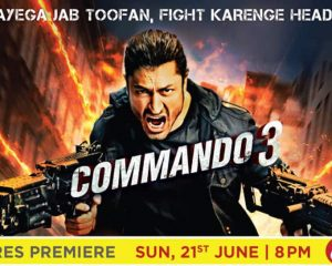 Watch the fearless Vidyut Jammwal fight the face of horror and the premiere of Commando 3 photos | TV news
